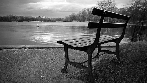Lonely Bench by the Lake by Lab2112