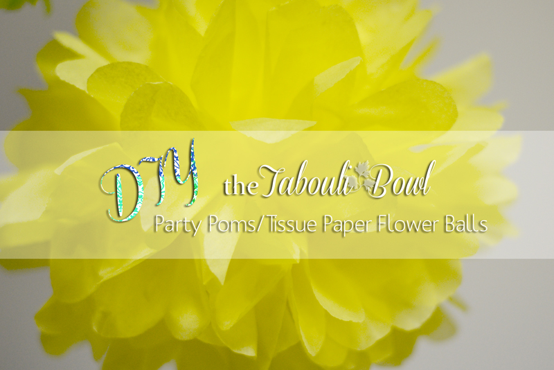 Diy party pomstissue paper flower balls party decor the how cute are these party poms ive seen them all over the craft world but never known how to make them i thought id give it a go so that i could mightylinksfo