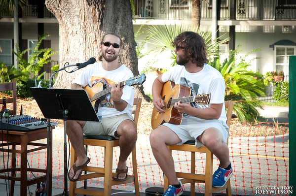 Joe and Brett from Lullwater - playing an acoustic gig is Savannah, GA while in between Lullwater tours...