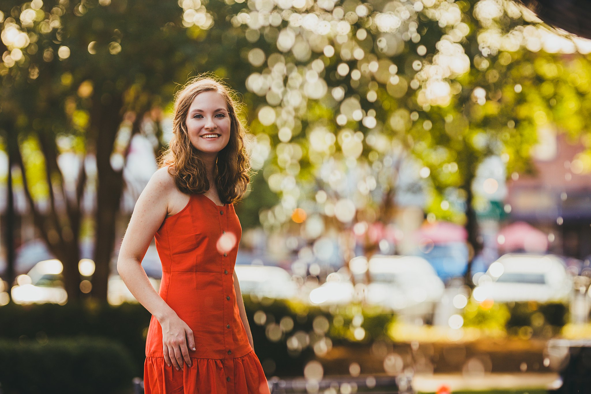Atlanta Senior Photographer High School Senior Session Marietta Square
