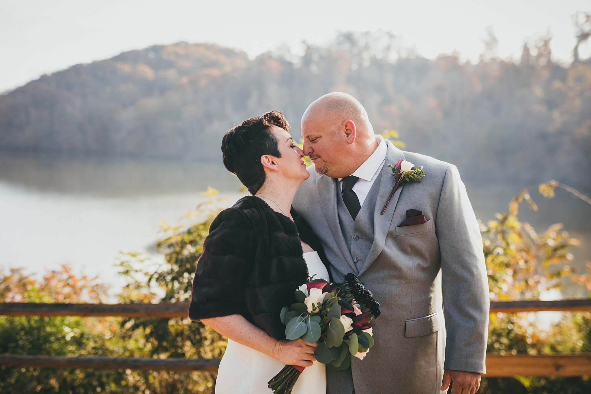 Intimate Wedding Ceremony Morgan Falls Atlanta Wedding Photographers