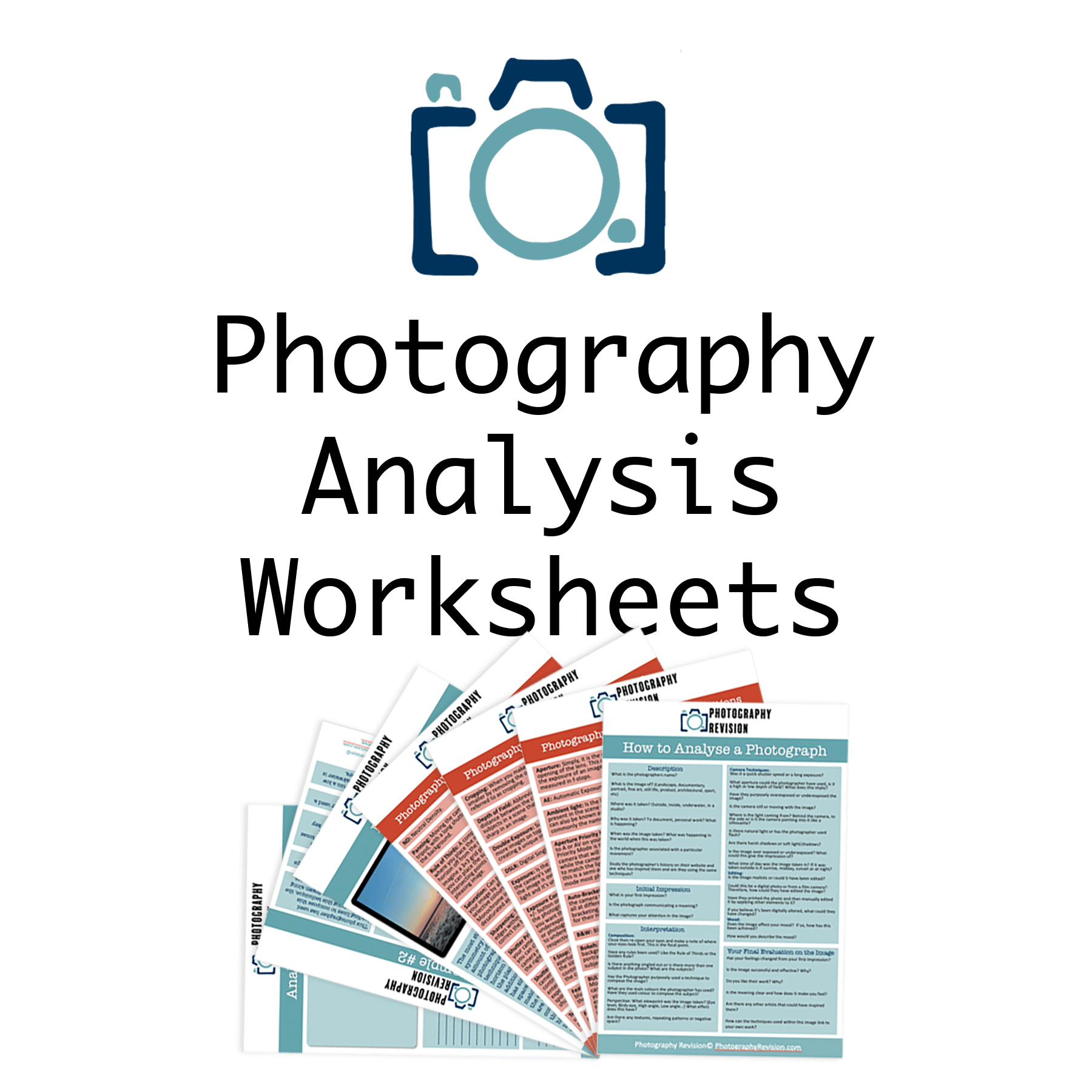 Worksheets Sale Page Photography Revision