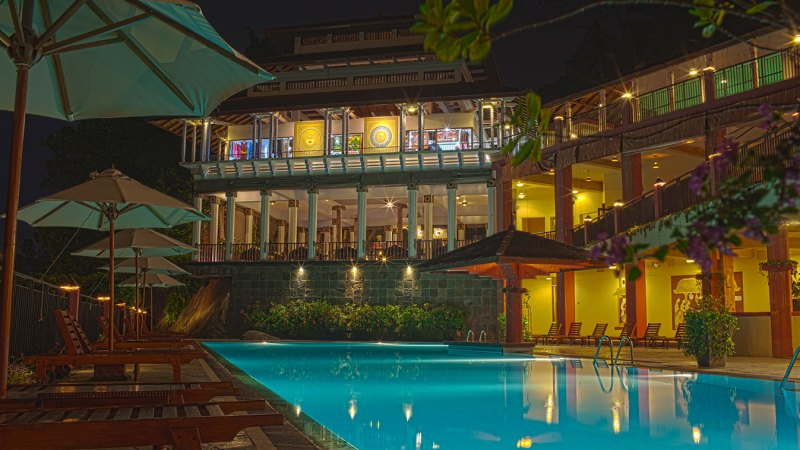 Shooting HDR at Amaya Hills resort, Kandy, Sri Lanka.