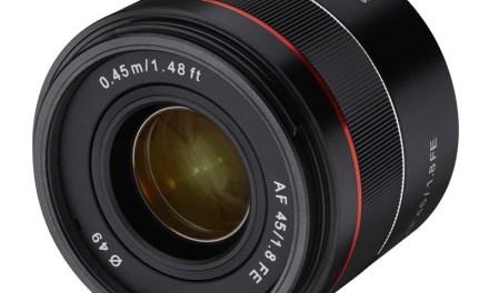 Samyang presenta su nuevo objetivo 45mm f/1,8 FE para Sony full-frame