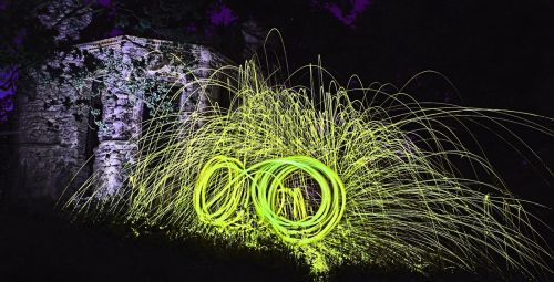 • Steel wool spinning •  by Steve Maidwell