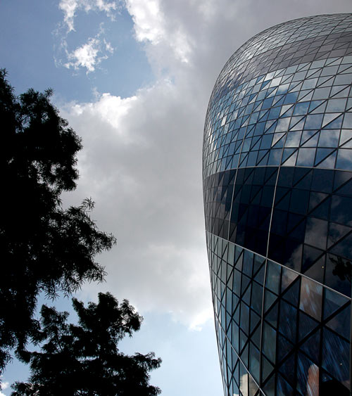 The Gherkin building - City of London, UK