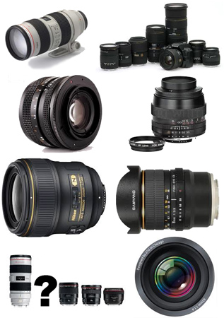 Mixed lens types
