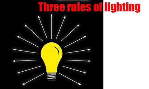 • Three Rules of Lighting •