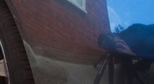 Me and my tripod - reflected in paintwork - tripod myths