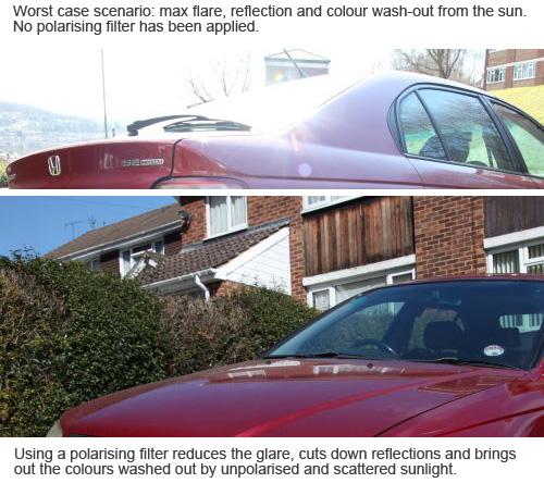 Worst and best case scenario for using polarising filters | Photokonnexion.com