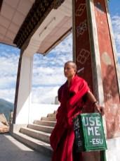 Young monk in Bhutan