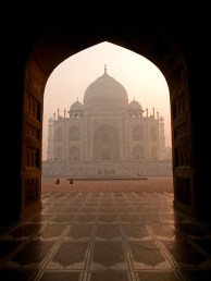 The beautiful Taj Mahal in the morning, Agra - India