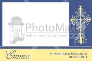 Thème photobooth borne photo selfie photomatt communion croix