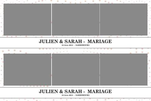 Deux bandes horizontales 5x15cm avec 3 photos