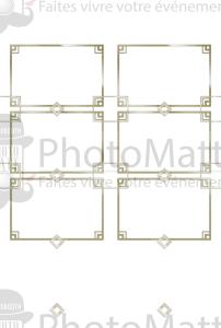 Thème photobooth borne photo selfie photomatt cadres dorés dorure art déco mariage