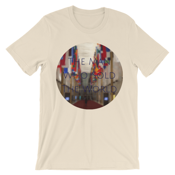 """The Man Who Sold the World"" by David Bowie - photo of The Kennedy Center Hall of Nations by Carla Durham - Photomusicology - cream short sleeve unisex t-shirt"