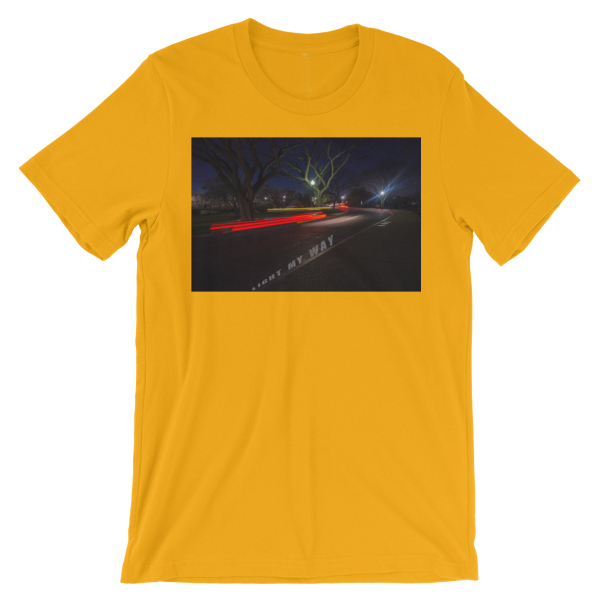 Light-My-Way-Photomusicology-Carla-Durham-unisex-t-shirt-gold