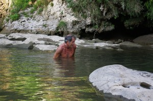 Back across the stream!