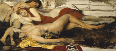 Exhausted Maenides After the Dance – Sir Lawrence Alma Tadema, 1874