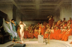 Phryne before the Areopagus by Gerome