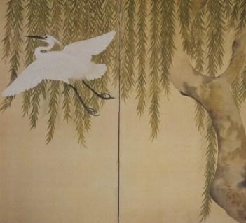 Heron,Willow, Suzuki Kiitsu,1796-1858