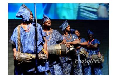 traditional yoruba percussionists, photonimi