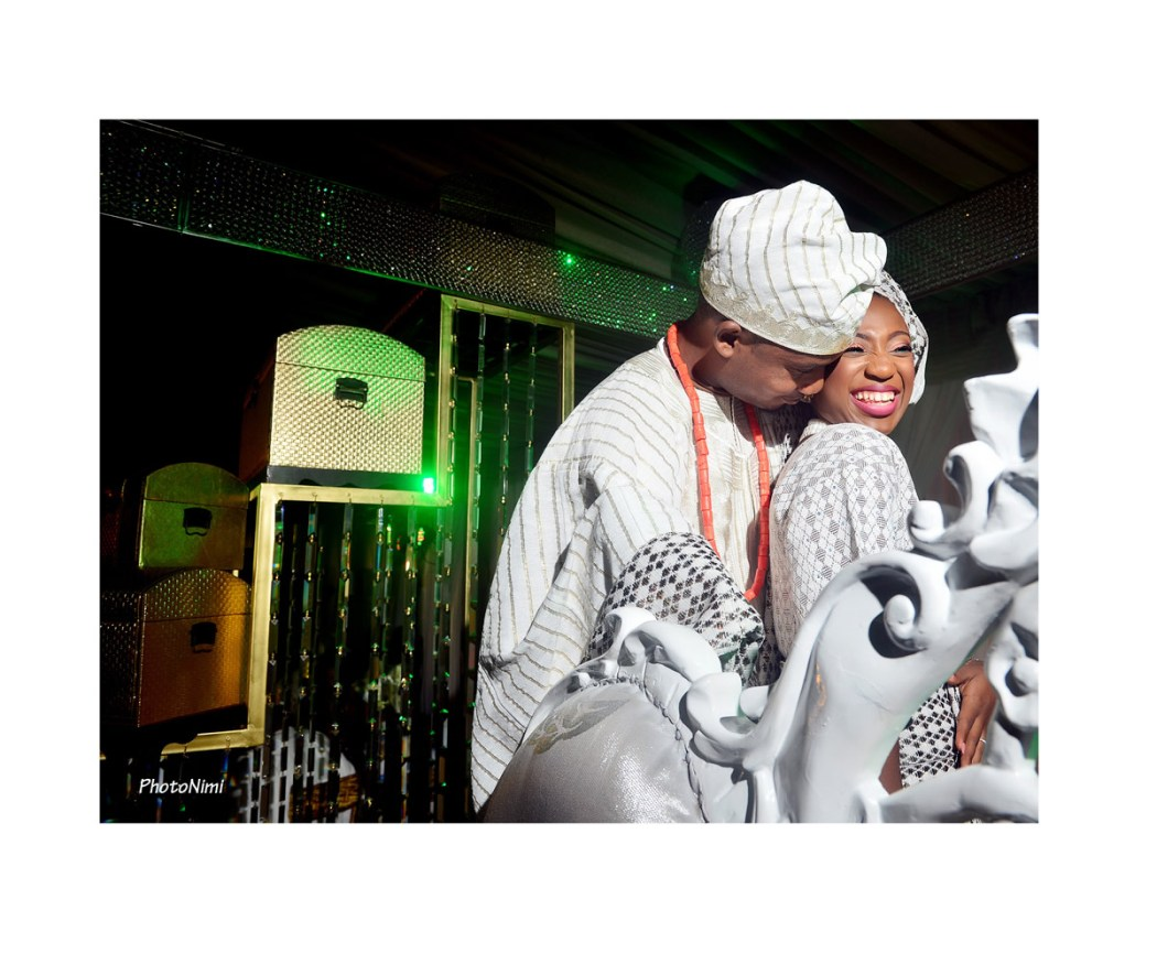 yoruba bride and groom, yoruba traditional wedding attire
