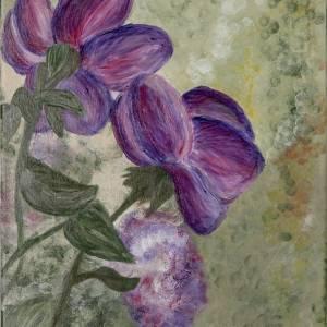 TRANDAFIRI - pictură, acrilic pe pânză