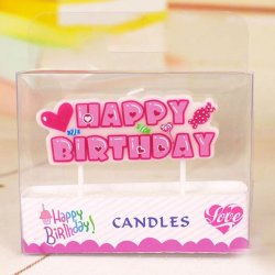 Toothpick Happy Birthday Candle for girls