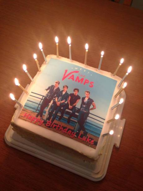 The Vamps birthday cake - square