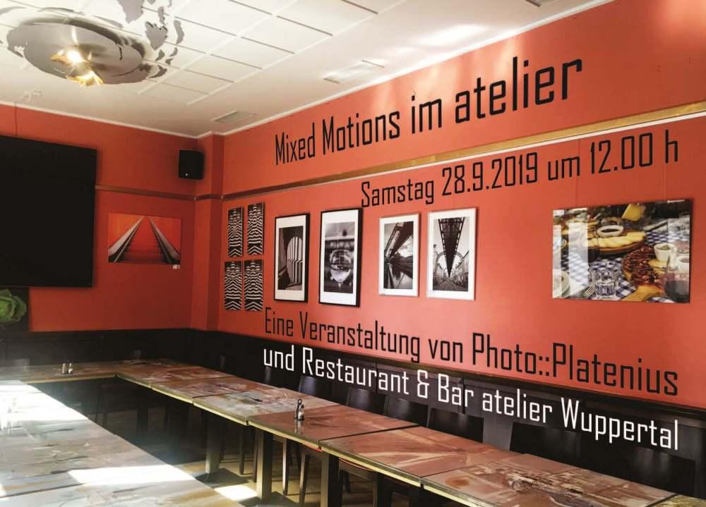 Photo::Platenius - MIXED MOTIONS im Atelier, Hofaue, Wuppertal