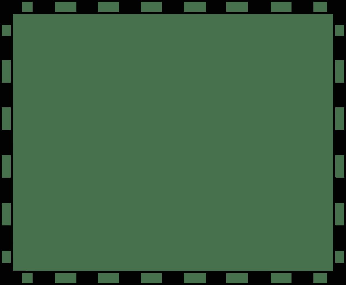 Black white frame border