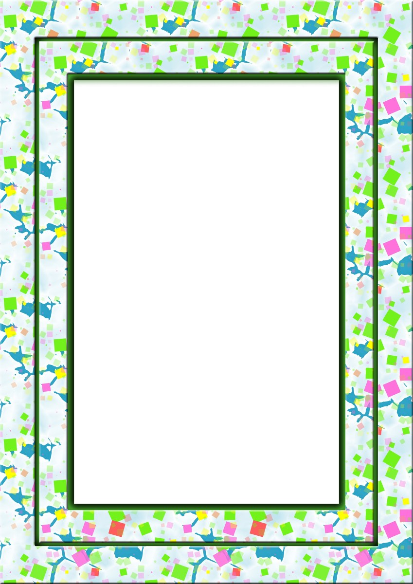 Colorful frame border squares