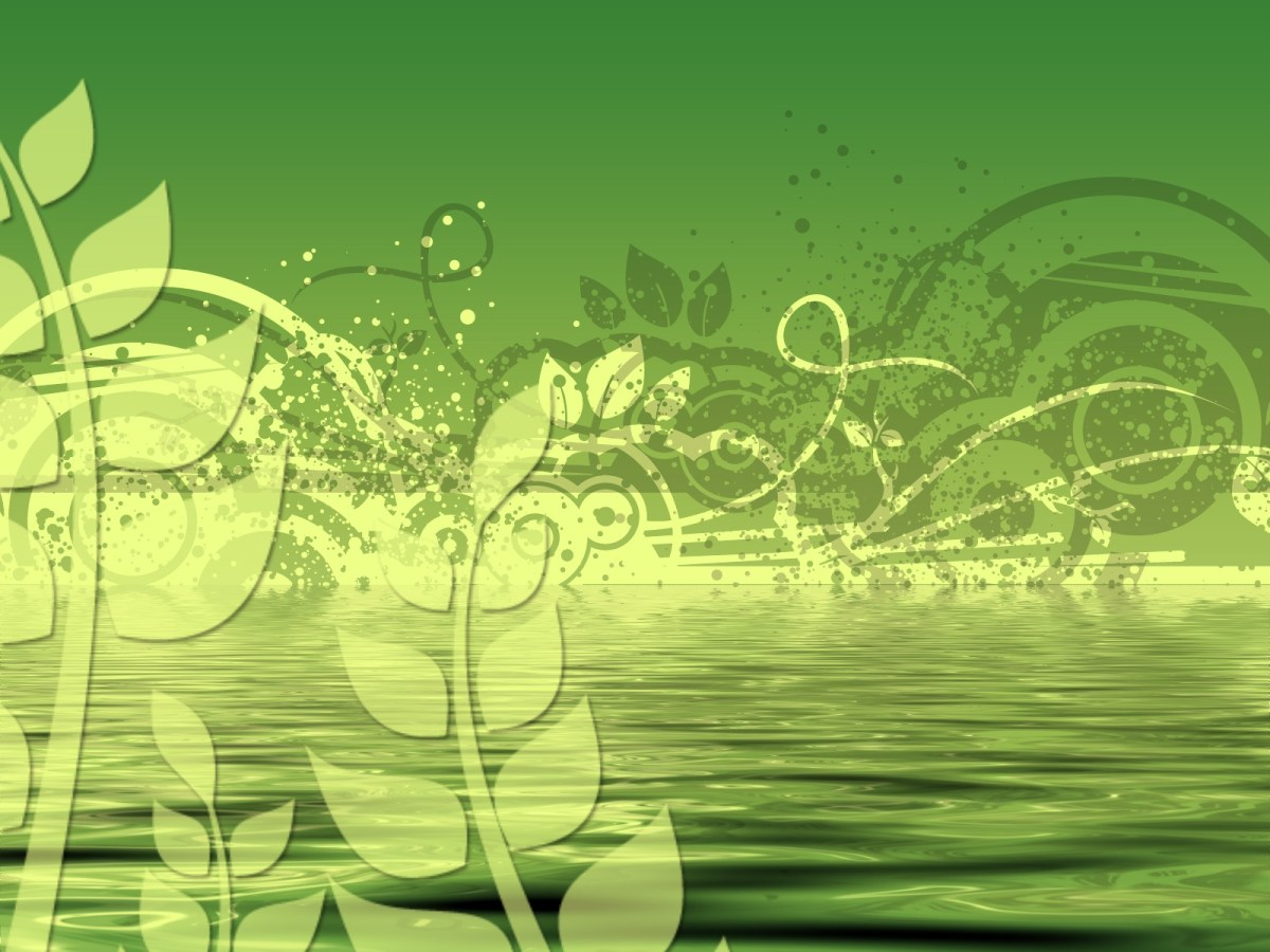 Green floral abstract background