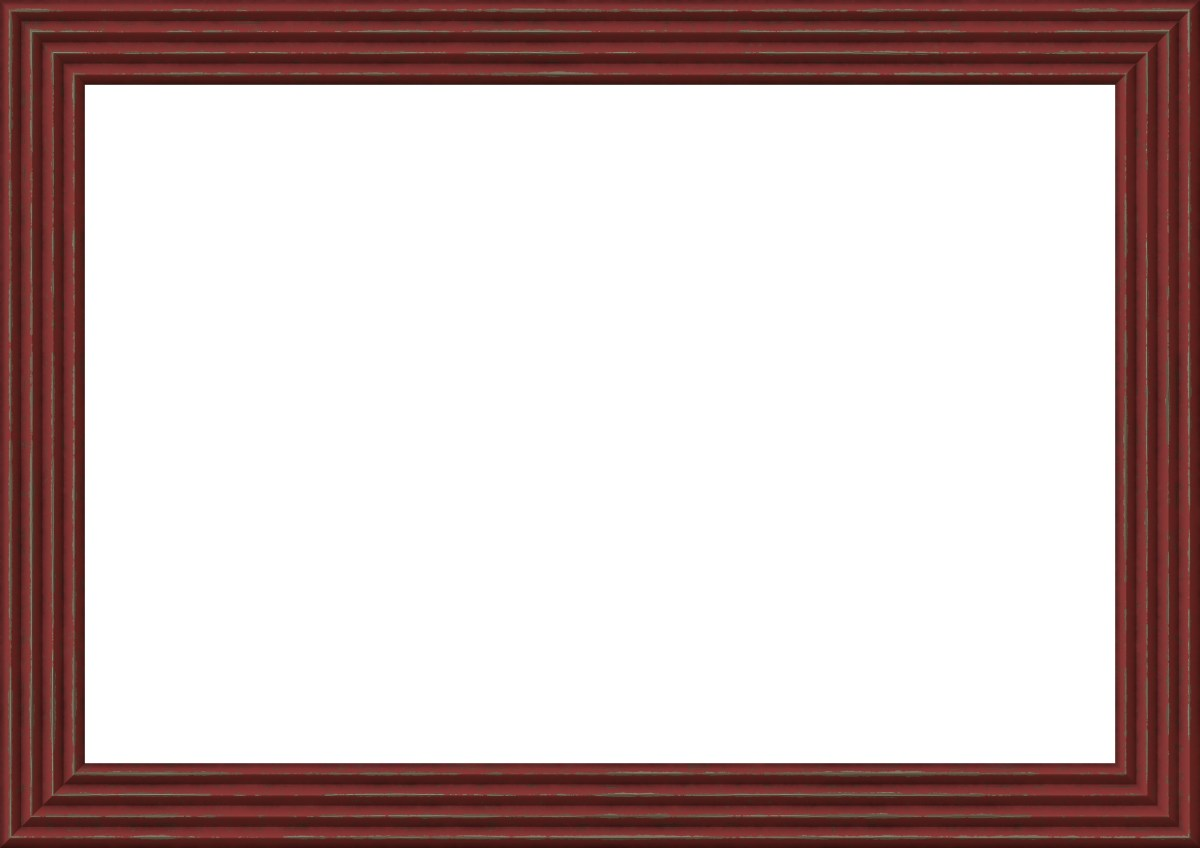 Red picture frame border