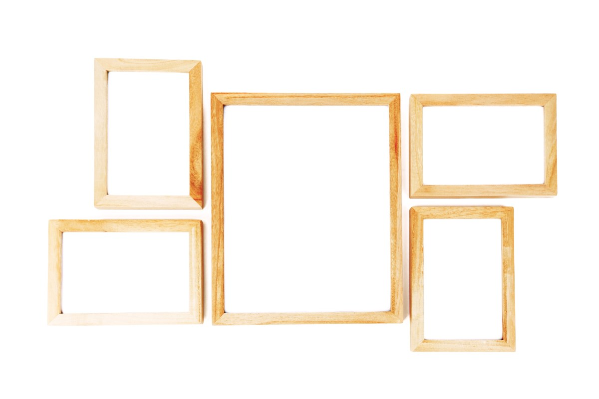 Wooden frames border multiple