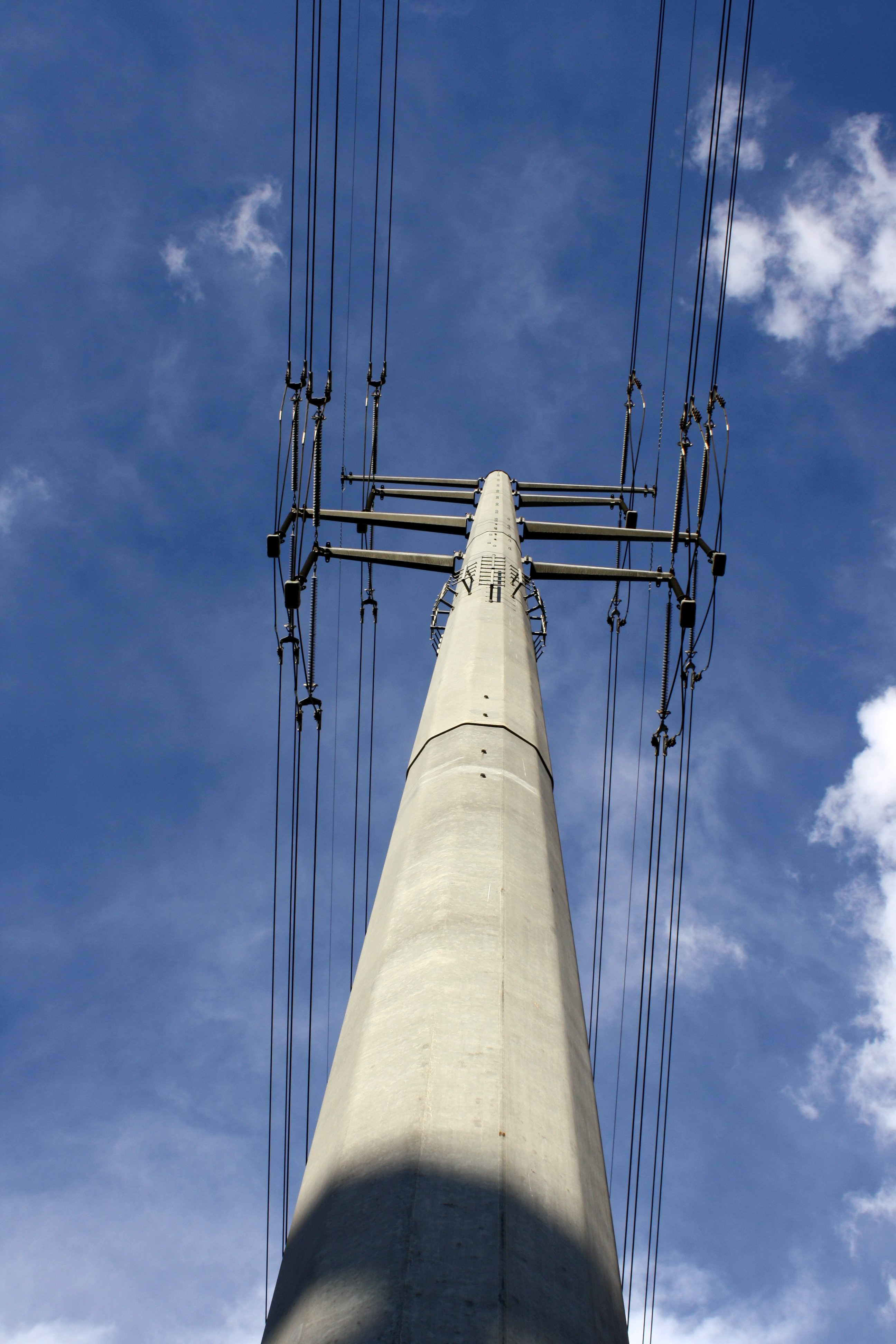 Electric Transmission Wires And Pole Picture