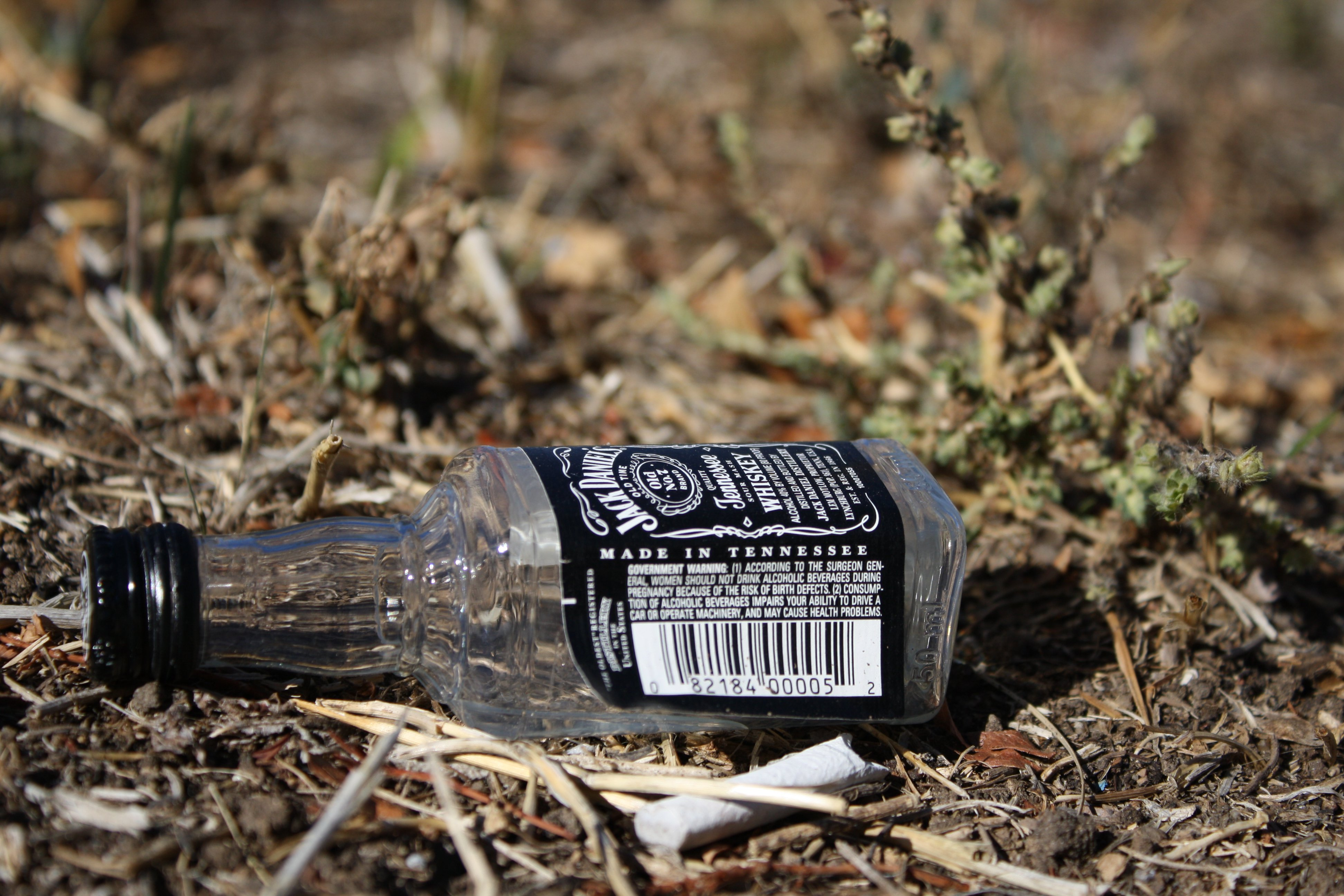 Image result for picture of an empty whiskey bottle in the street