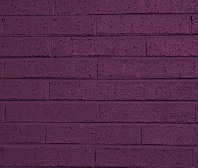 Purple Painted Brick Wall Texture
