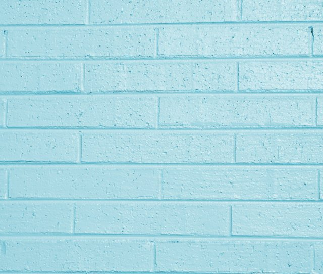 Teal Blue Painted Brick Wall Texture