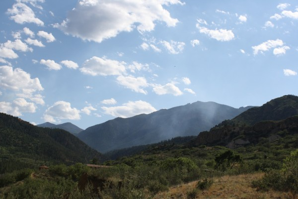 Smoke Rising from Mountain Pass - Free High Resolution Photo