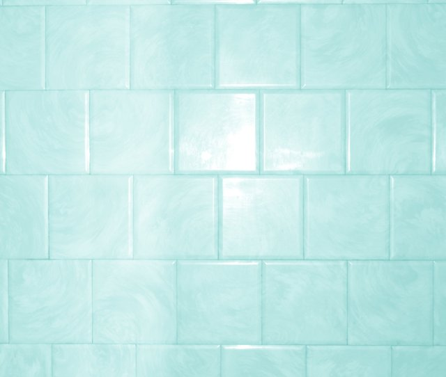 Aqua Or Teal Colored Bathroom Tile Texture With Swirl Pattern