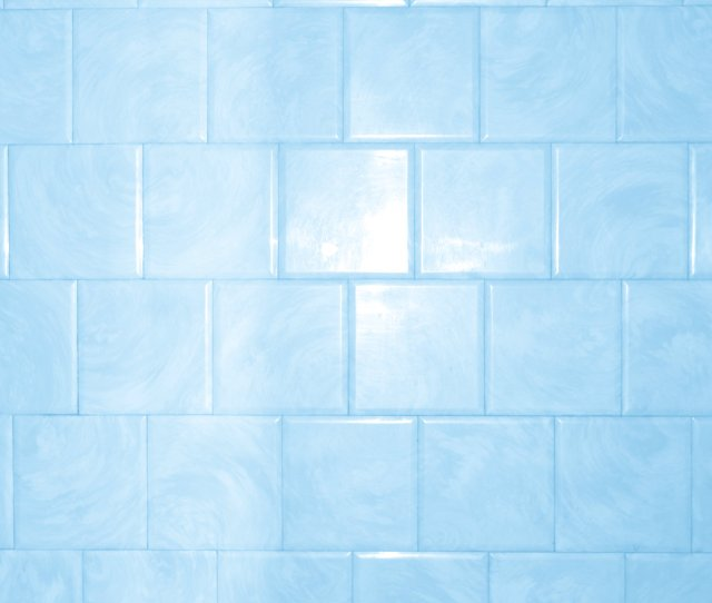 Baby Blue Bathroom Tile With Swirl Pattern Texture