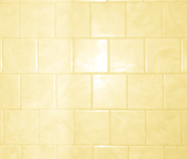 Erscotch Yellow Bathroom Tile With Swirl Pattern Texture