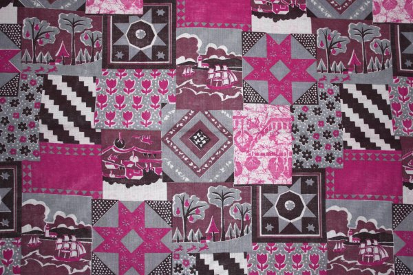 Pink Patchwork Quilt Fabric Texture Picture | Free ...