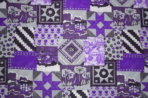 Purple Patchwork Quilt Fabric Texture Picture | Free ...