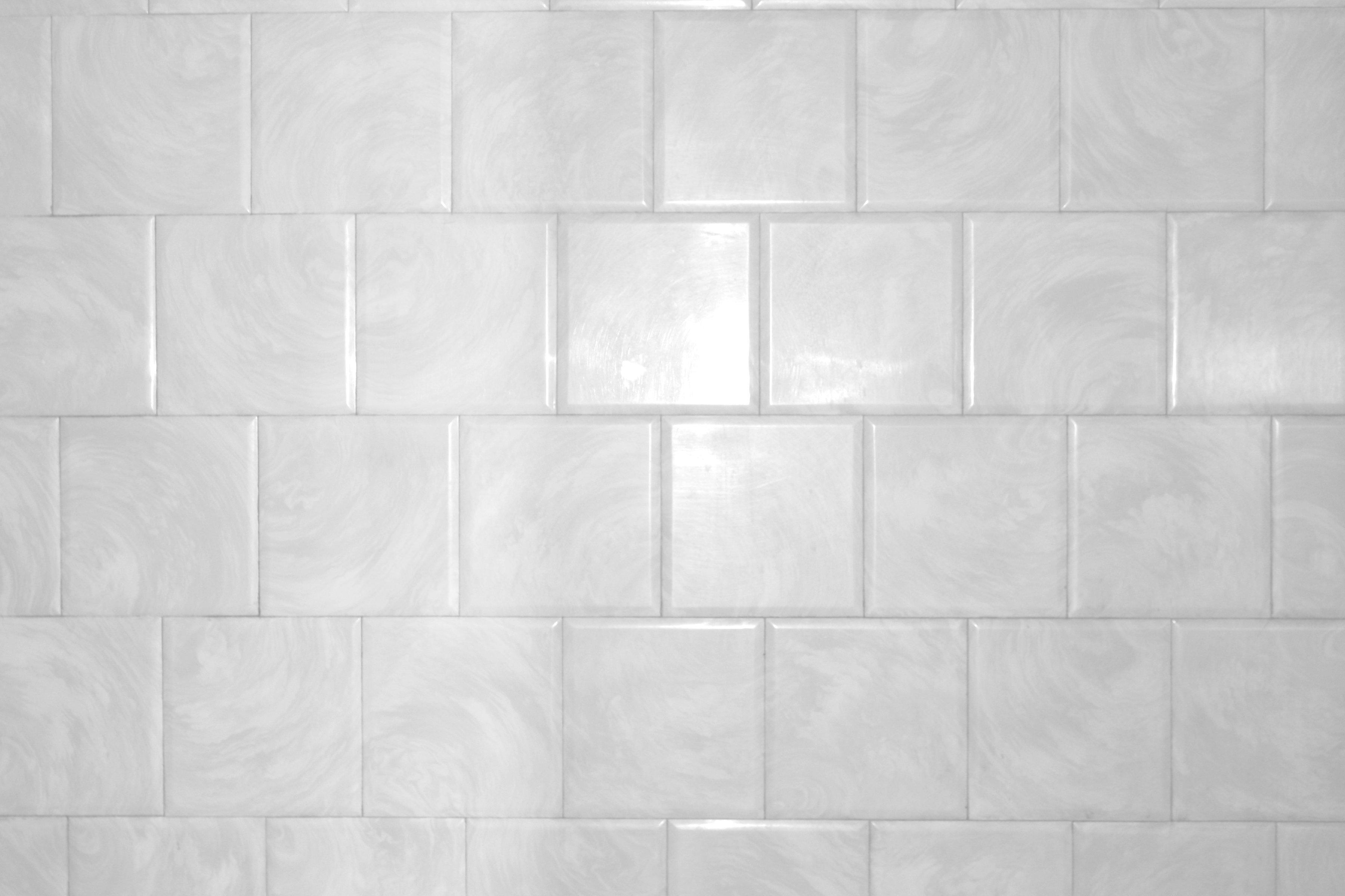 White Bathroom Tile With Swirl Pattern Texture Picture