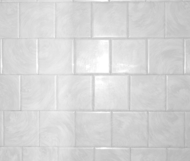 White Bathroom Tile With Swirl Pattern Texture