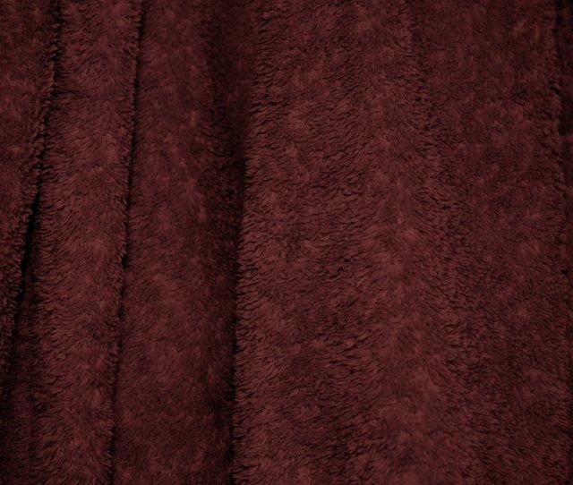Maroon Terry Cloth Bath Towel Texture