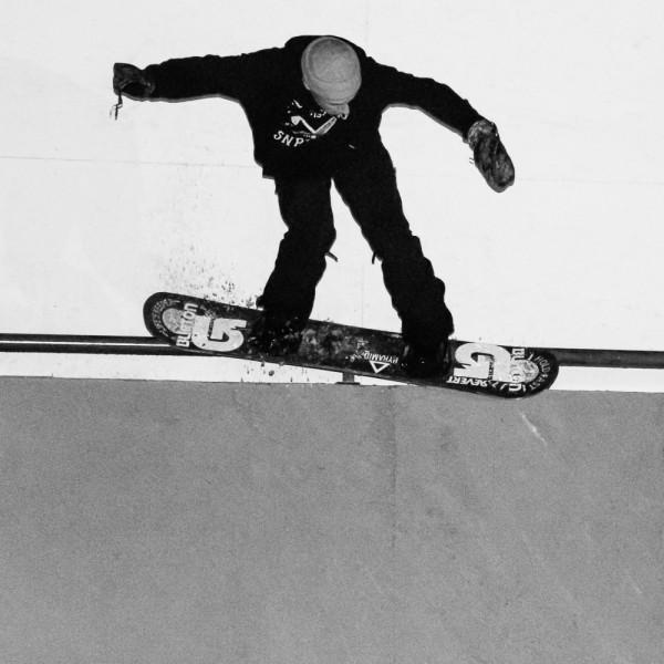 Jesse Augustinus riding the rail